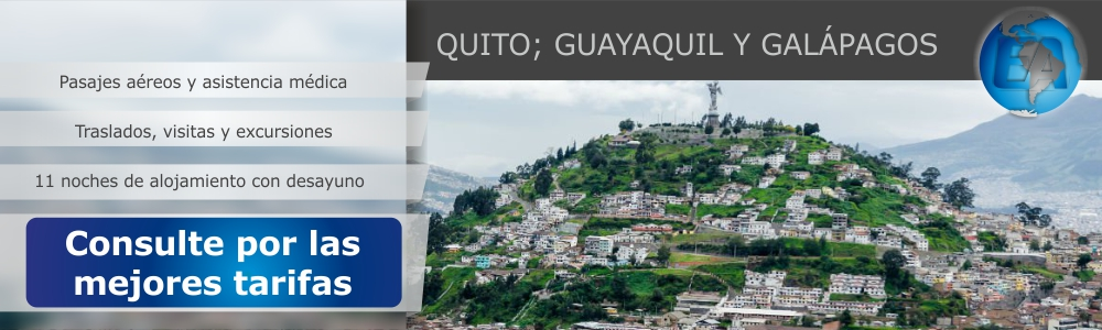 QUITO-GUAYAQUIL Y GALAPAGOS